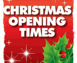 Christmas & New Year 2016/2017 Business Opening Hours